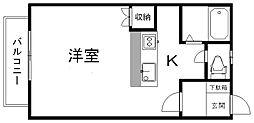 新潟県新潟市江南区五月町1丁目の賃貸アパートの間取り
