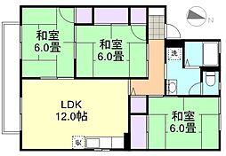 ハウスフォレストE棟[2階]の間取り