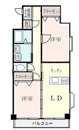 ガーデンハマ[2階]の間取り