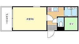 リッツ舞子坂[2階]の間取り