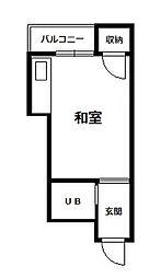 帝塚山ハイツ[3階]の間取り