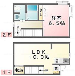 [テラスハウス] 千葉県市川市下新宿 の賃貸【/】の間取り