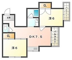 シャロンドビブレ[2階]の間取り