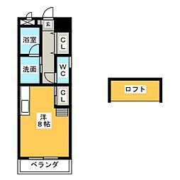 愛知県名古屋市中区伊勢山1の賃貸マンションの間取り
