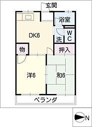レジデンス太平[3階]の間取り