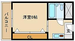 兵庫県尼崎市南塚口町1の賃貸マンションの間取り