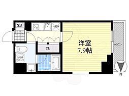 クレヴィスタ亀戸3 8階1Kの間取り