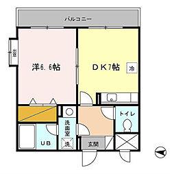 アメニティ富里[2階]の間取り