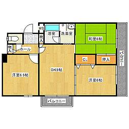 西興第5マンション[301号室]の間取り