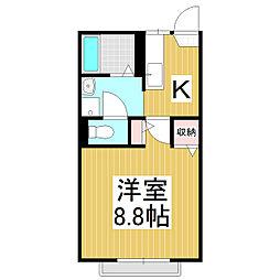 アストリア21 A棟[2階]の間取り