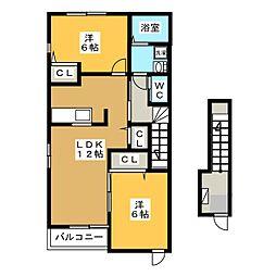 ノア B[2階]の間取り