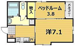 ヴィラ浅田館[2階]の間取り