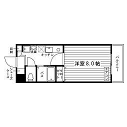ラヴィール八幡山[2階]の間取り
