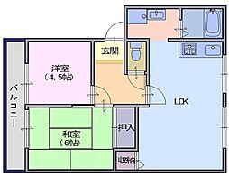 シティライフC[1階]の間取り