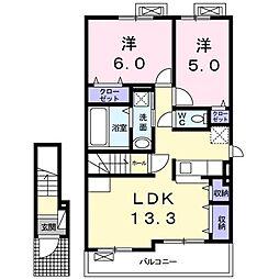 上野町アパート A棟[0202号室]の間取り