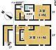 間取り,1LDK,面積55.96m2,賃料16.9万円,JR山手線 大崎駅 徒歩8分,都営浅草線 戸越駅 徒歩13分,東京都品川区西品川2丁目