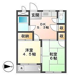 愛知県名古屋市東区芳野1丁目の賃貸マンションの間取り