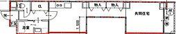 Osaka Metro御堂筋線 心斎橋駅 徒歩18分の賃貸マンション 5階1LDKの間取り