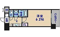 スプランディッド難波[15階]の間取り