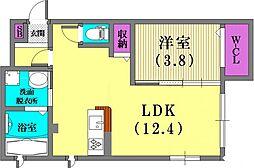 (仮)野崎通ハイツ[102号室]の間取り