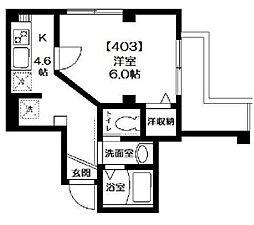 ジプソフィリア[4階]の間取り