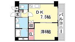クリアーレ岡崎[403号室]の間取り