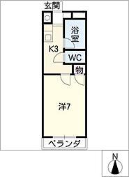 ソワサント フジ[2階]の間取り