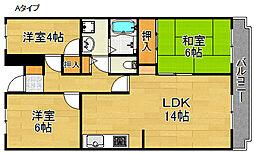 サニーコート高松[2階]の間取り