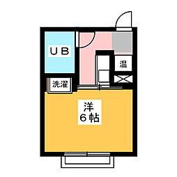 コーポ杉栄3[3階]の間取り