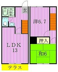 [テラスハウス] 千葉県松戸市小金原6丁目 の賃貸【/】の間取り