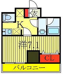 JR山手線 大塚駅 徒歩4分の賃貸マンション 13階1Kの間取り