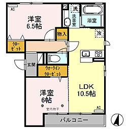 (仮)D-room荒牧町[301号室]の間取り