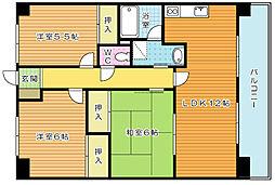 アブニール篠崎第二ビル[3階]の間取り