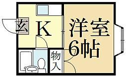 ハイム上賀茂[2階]の間取り