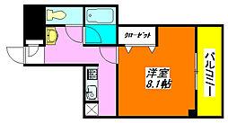 ラ・フォンテ八戸ノ里 405号室[4階]の間取り
