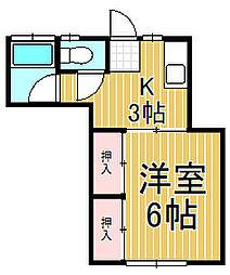 ヴァンヴェール鎌倉[1階]の間取り