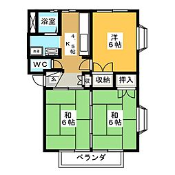 メゾニティ安久[2階]の間取り