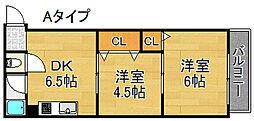 タカイレジデンス[4階]の間取り
