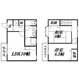 [一戸建] 静岡県浜松市西区大平台4丁目 の賃貸【/】の間取り