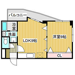 愛知県名古屋市中川区供米田3丁目の賃貸マンションの間取り