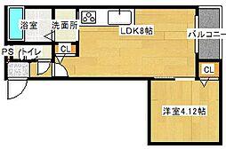 シャーメゾンボヌール[2階]の間取り