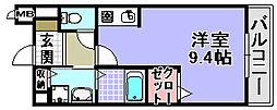 メゾンラフィーネ[201号室]の間取り