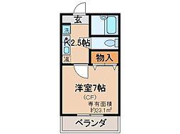 京都府京都市伏見区向島二ノ丸町の賃貸マンションの間取り