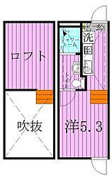 東京都足立区南花畑3丁目の賃貸アパートの間取り