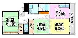 共栄マンション[3階]の間取り