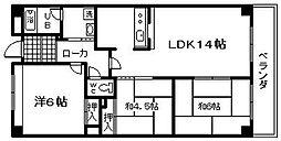 岸和田WINマンション[302号室]の間取り
