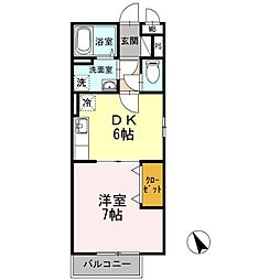 レジデンスTamaya A棟[3階]の間取り