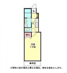愛知県一宮市三ツ井1丁目の賃貸アパートの間取り