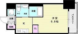 ファーストフィオーレ神戸元町 8階1Kの間取り