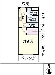 S−FORT鈴鹿[1階]の間取り